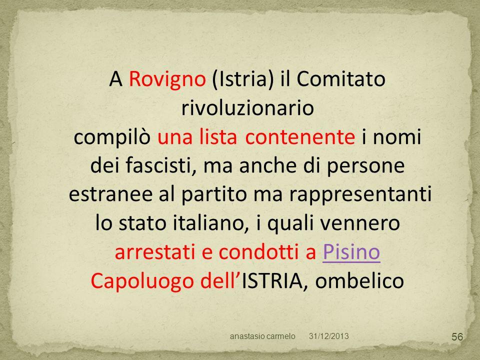 A Rovigno (Istria) il Comitato rivoluzionario