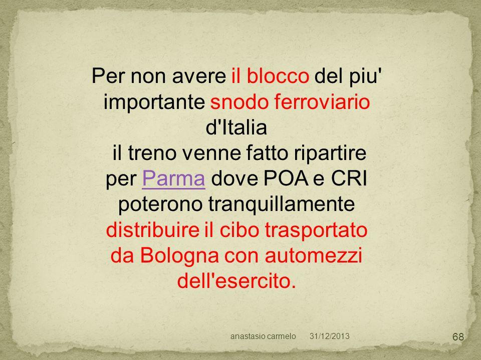 Per non avere il blocco del piu importante snodo ferroviario d Italia