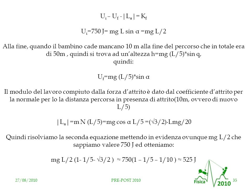 |La|=m N (L/5)=mg cos α L/5 =(√3/2)∙Lmg/20