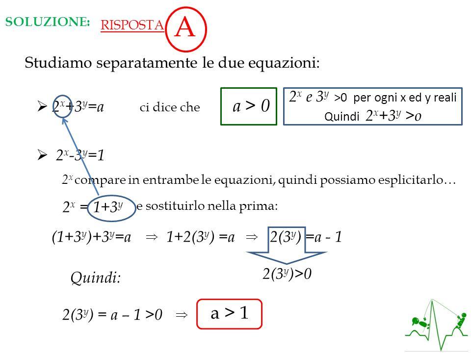 2x e 3y >0 per ogni x ed y reali