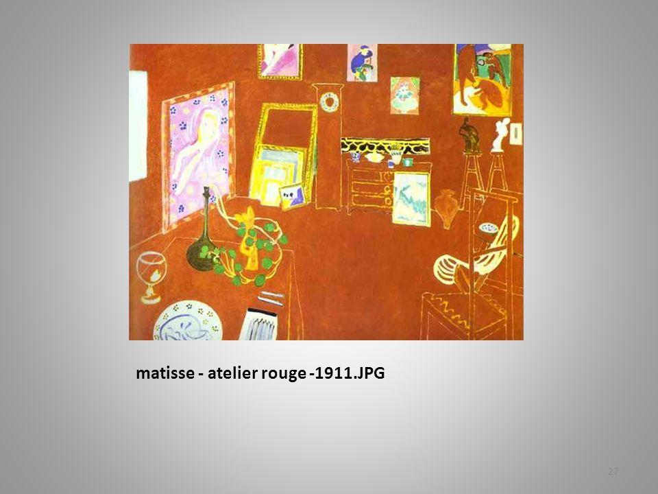 matisse - atelier rouge -1911.JPG