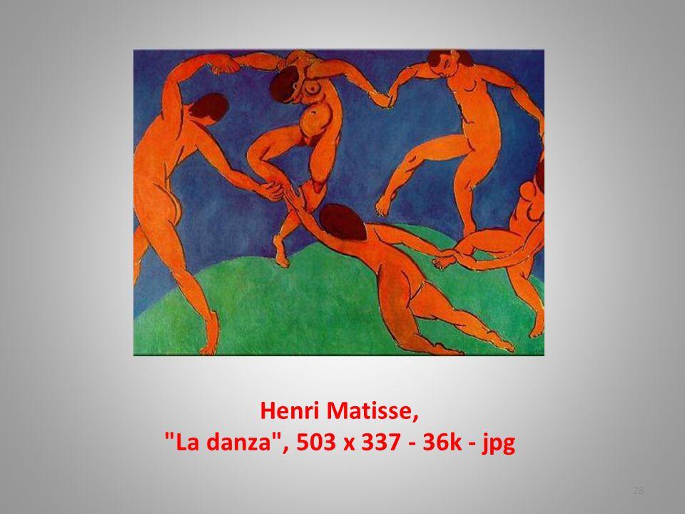 Henri Matisse, La danza , 503 x 337 - 36k - jpg