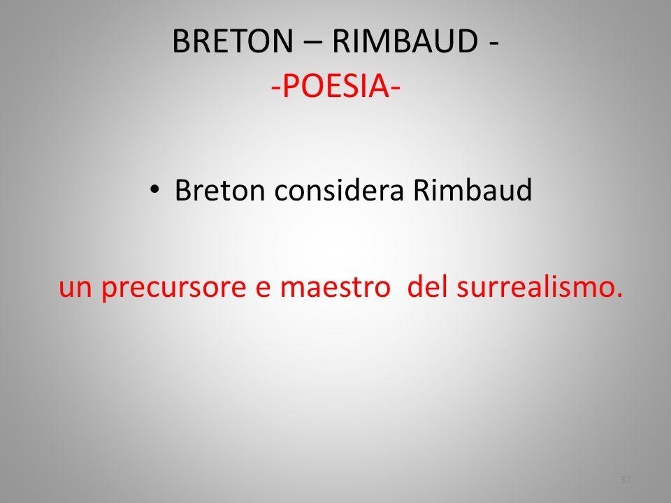 BRETON – RIMBAUD - -POESIA-