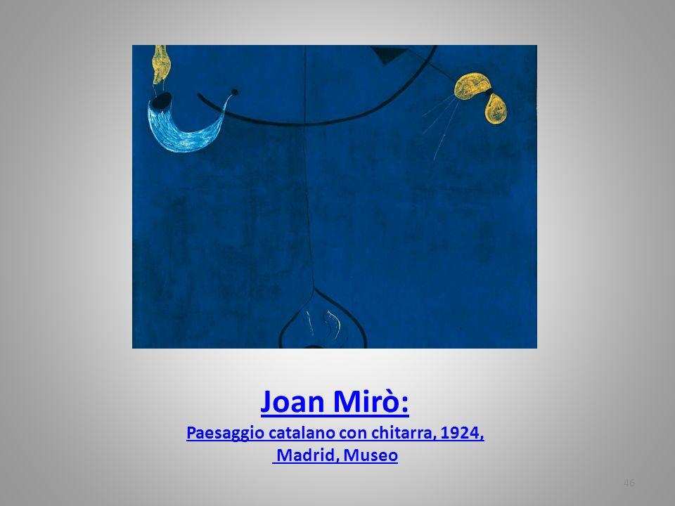 Joan Mirò: Paesaggio catalano con chitarra, 1924, Madrid, Museo