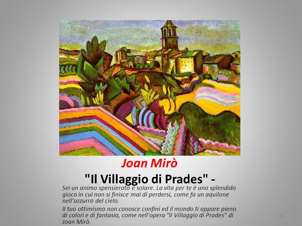 Joan Mirò Il Villaggio di Prades -