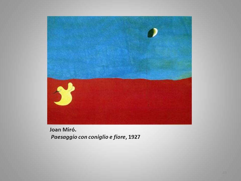 Joan Miró. Paesaggio con coniglio e fiore, 1927