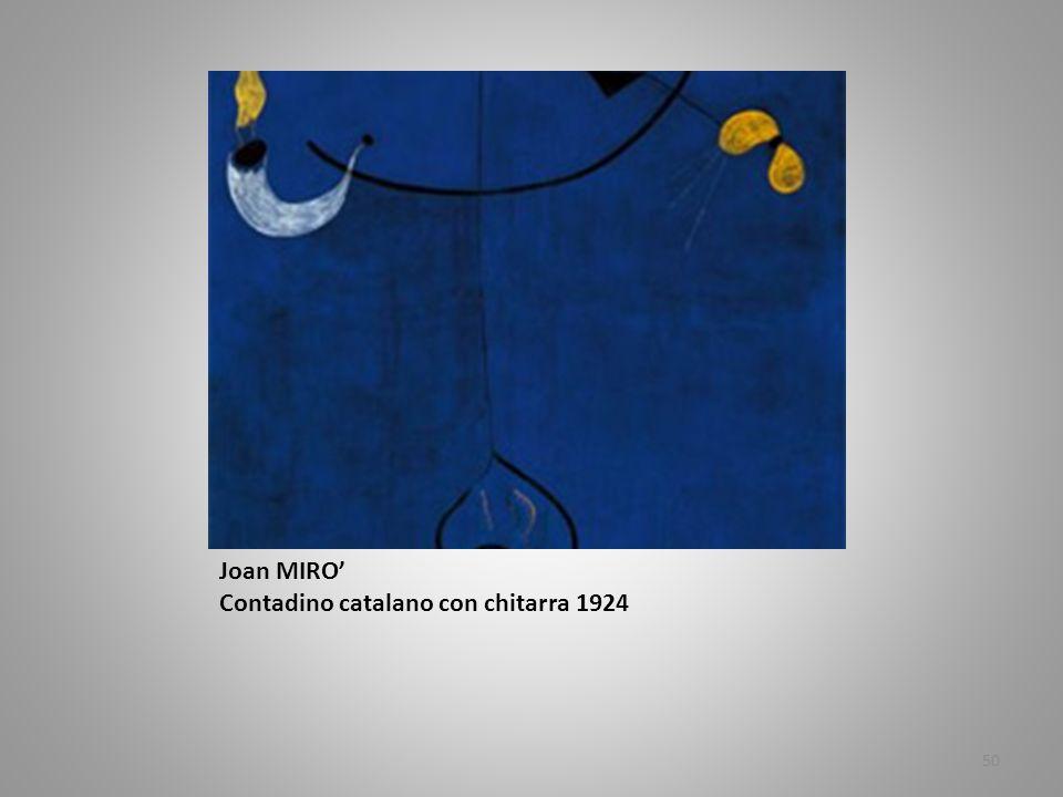 Joan MIRO' Contadino catalano con chitarra 1924