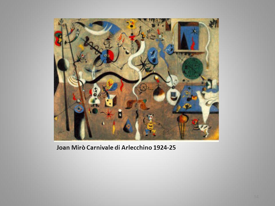 Joan Mirò Carnivale di Arlecchino 1924-25