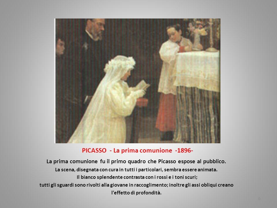 PICASSO - La prima comunione -1896-