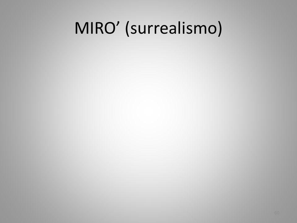 MIRO' (surrealismo)