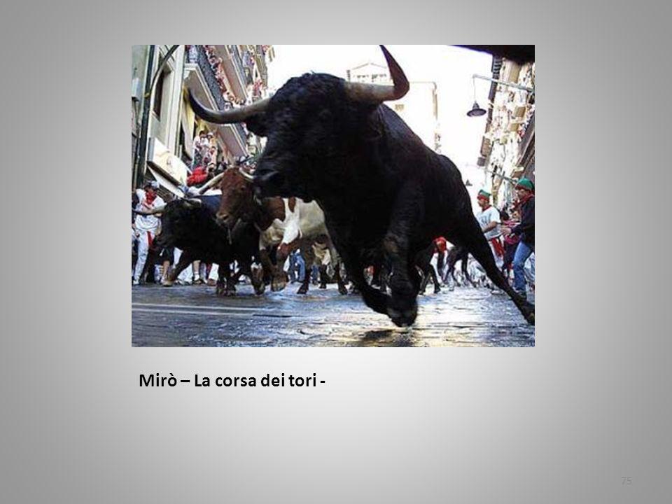 Mirò – La corsa dei tori -