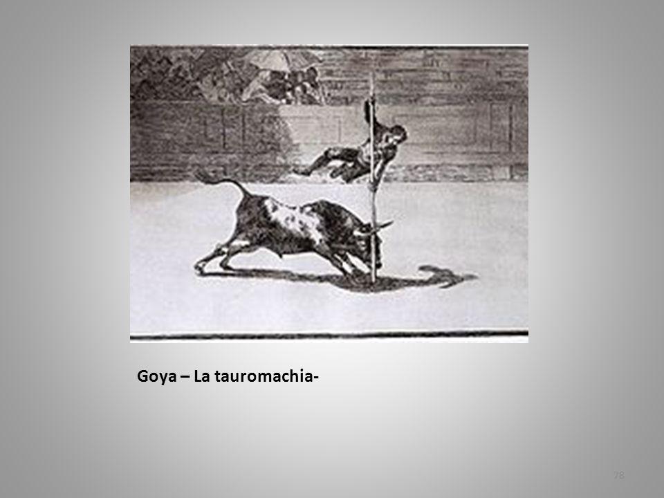 Goya – La tauromachia-