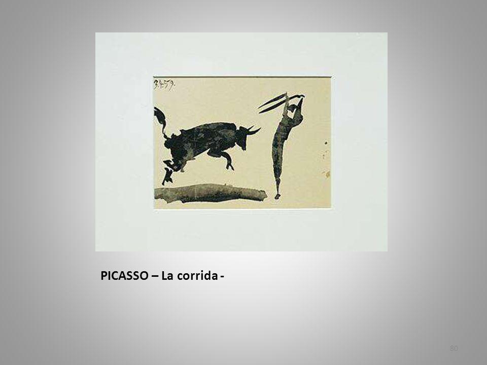 PICASSO – La corrida -