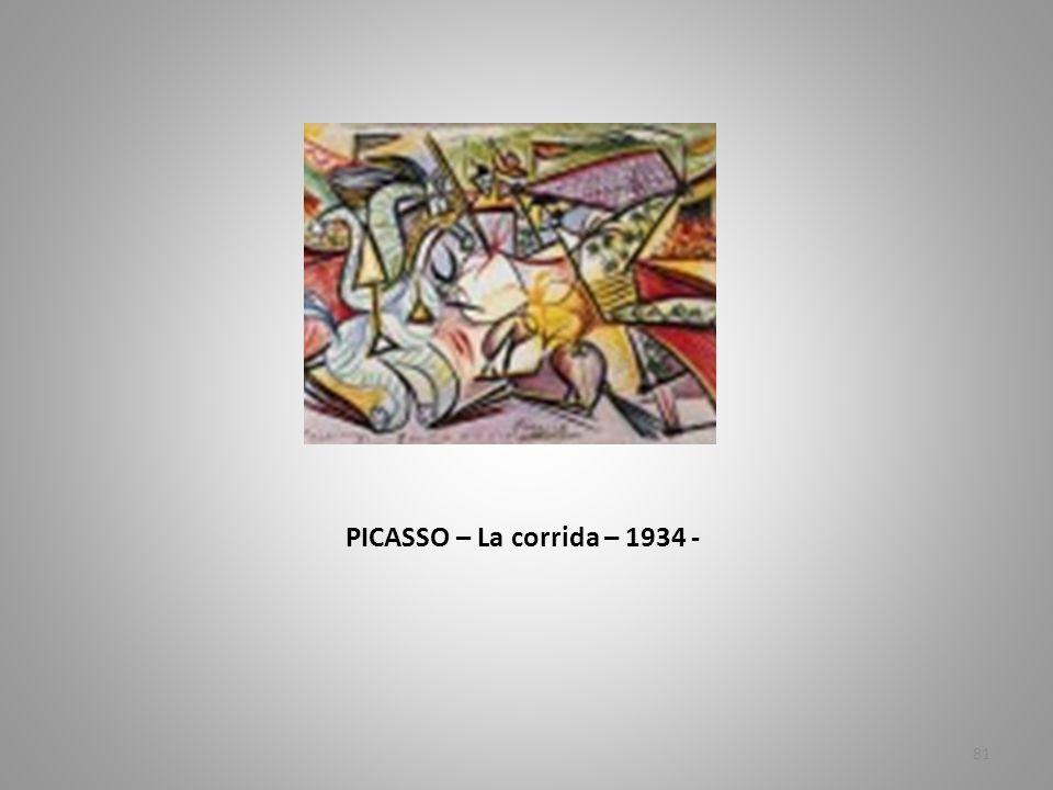 PICASSO – La corrida – 1934 -