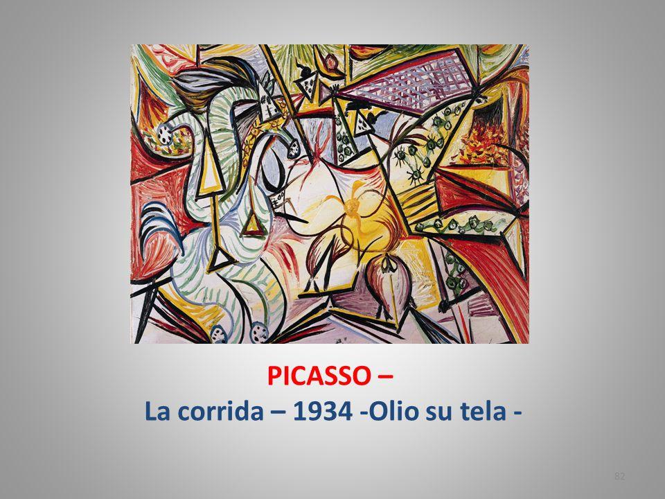 PICASSO – La corrida – 1934 -Olio su tela -
