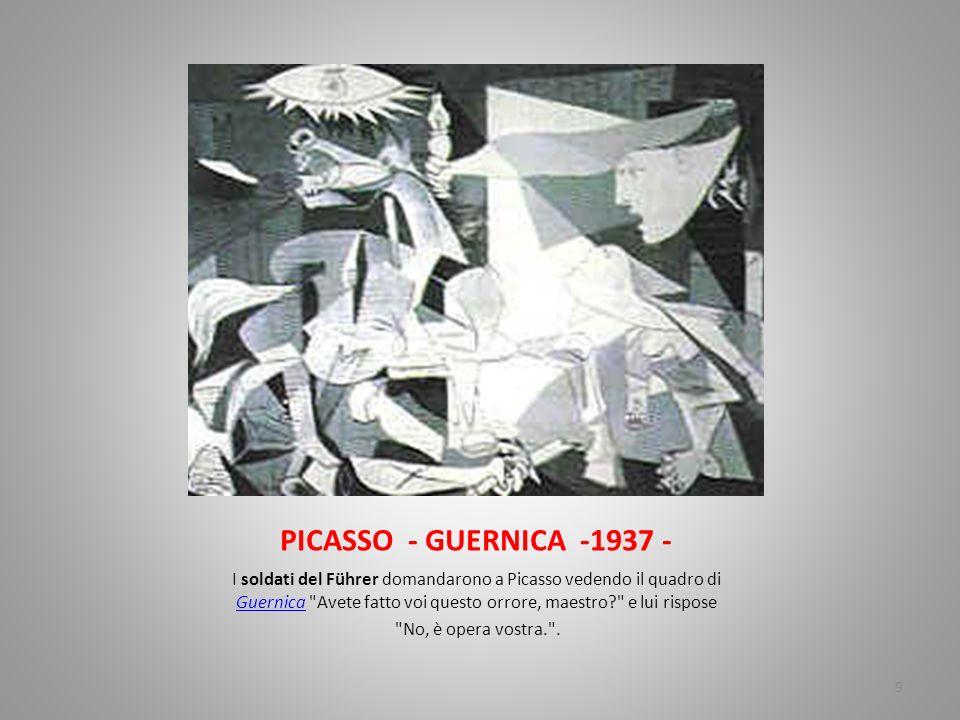 PICASSO - GUERNICA -1937 -