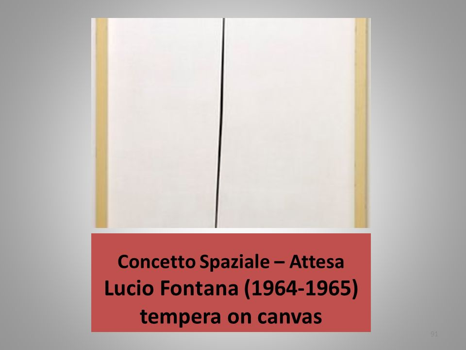 Concetto Spaziale – Attesa Lucio Fontana ( ) tempera on canvas
