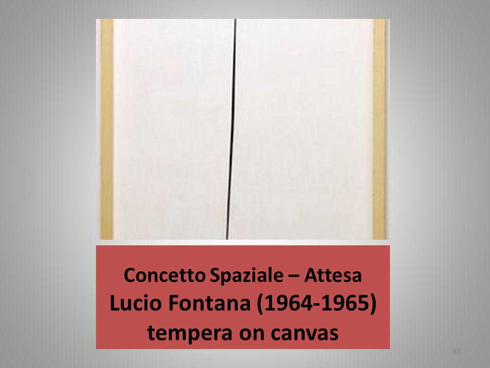 Concetto Spaziale – Attesa Lucio Fontana (1964-1965) tempera on canvas