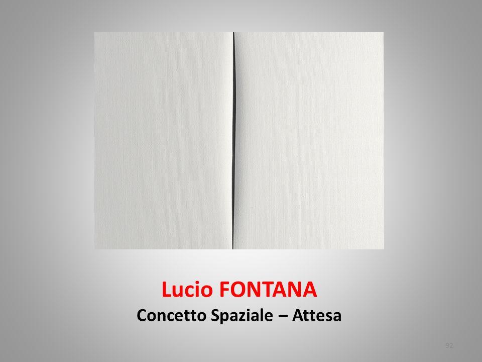 Lucio FONTANA Concetto Spaziale – Attesa