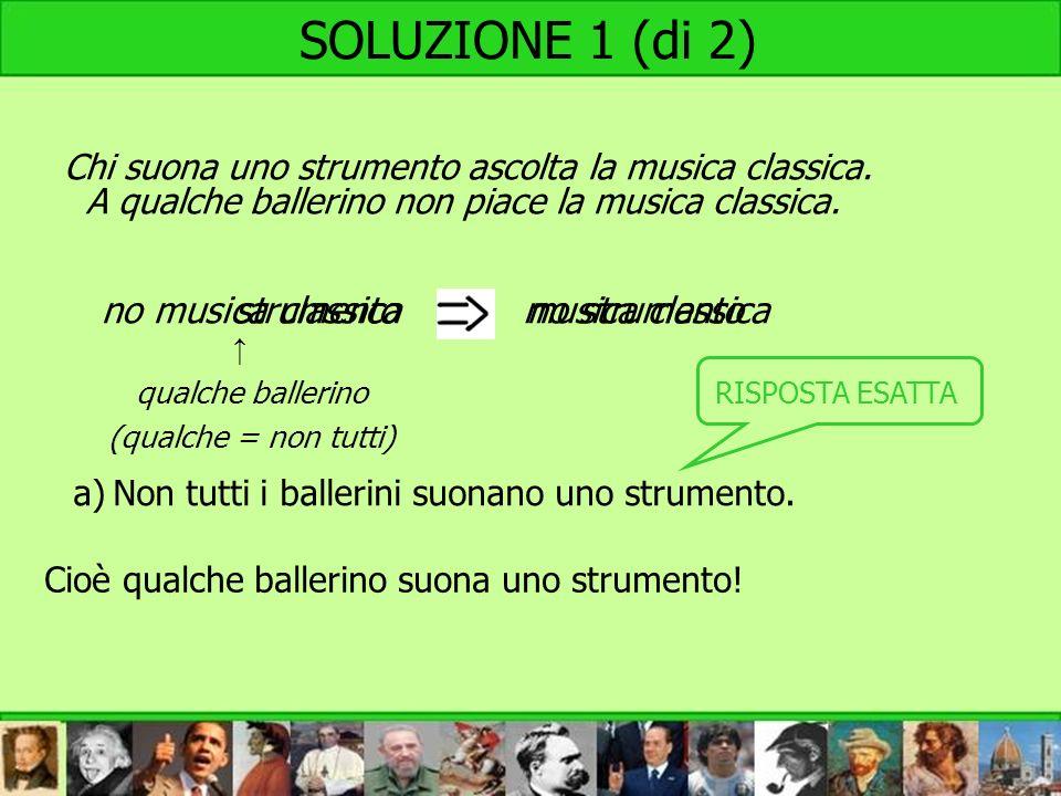 SOLUZIONE 1 (di 2) no musica classica strumento musica classica