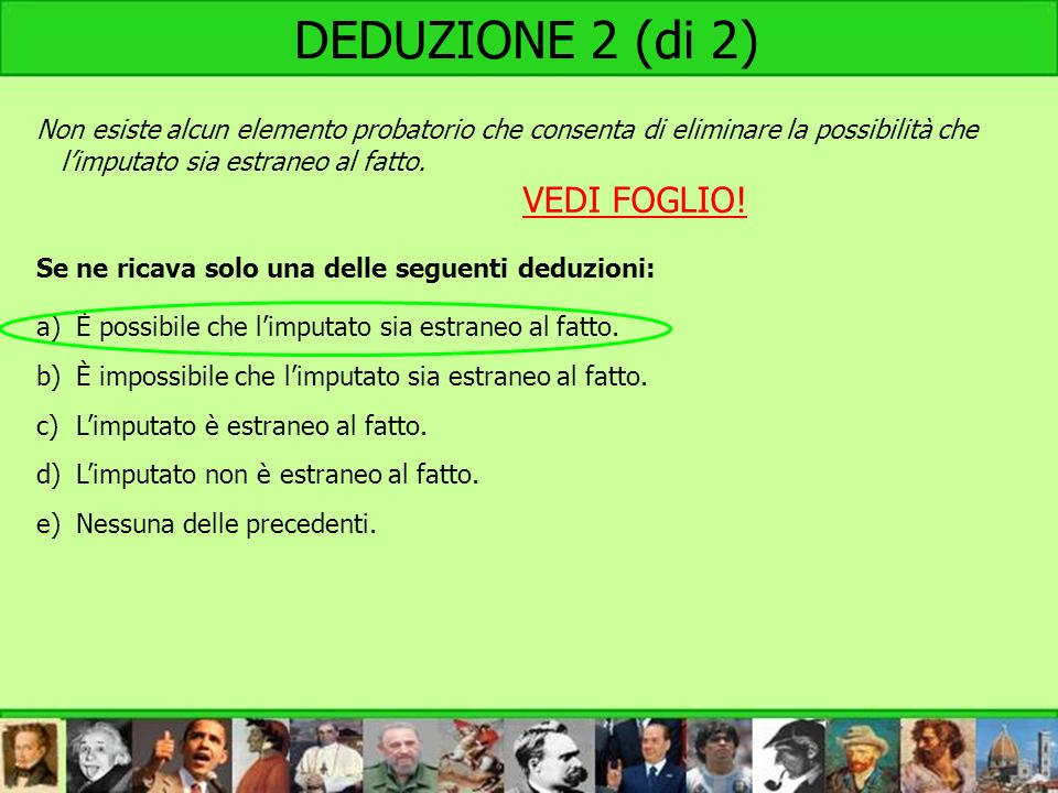 DEDUZIONE 2 (di 2) VEDI FOGLIO!