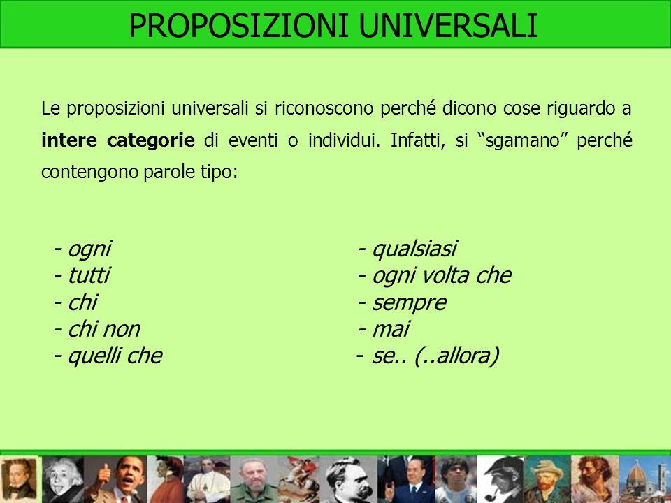 PROPOSIZIONI UNIVERSALI