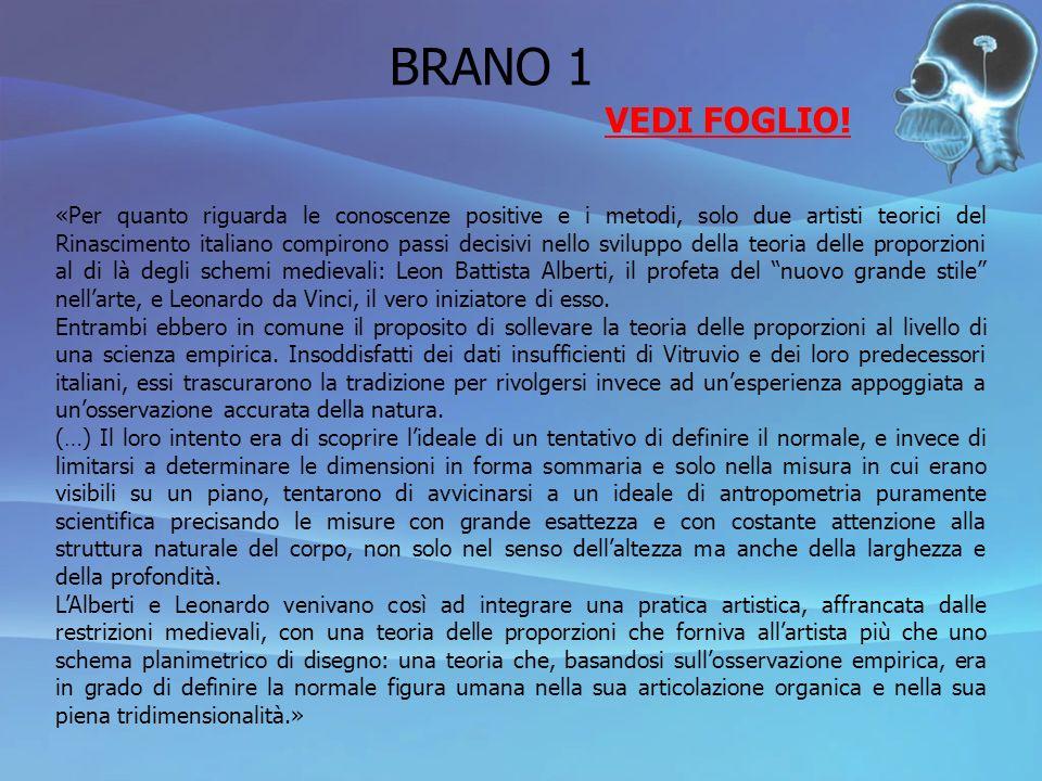 BRANO 1 VEDI FOGLIO!