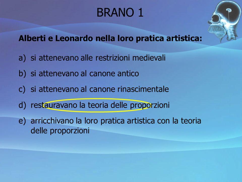 BRANO 1 Alberti e Leonardo nella loro pratica artistica: