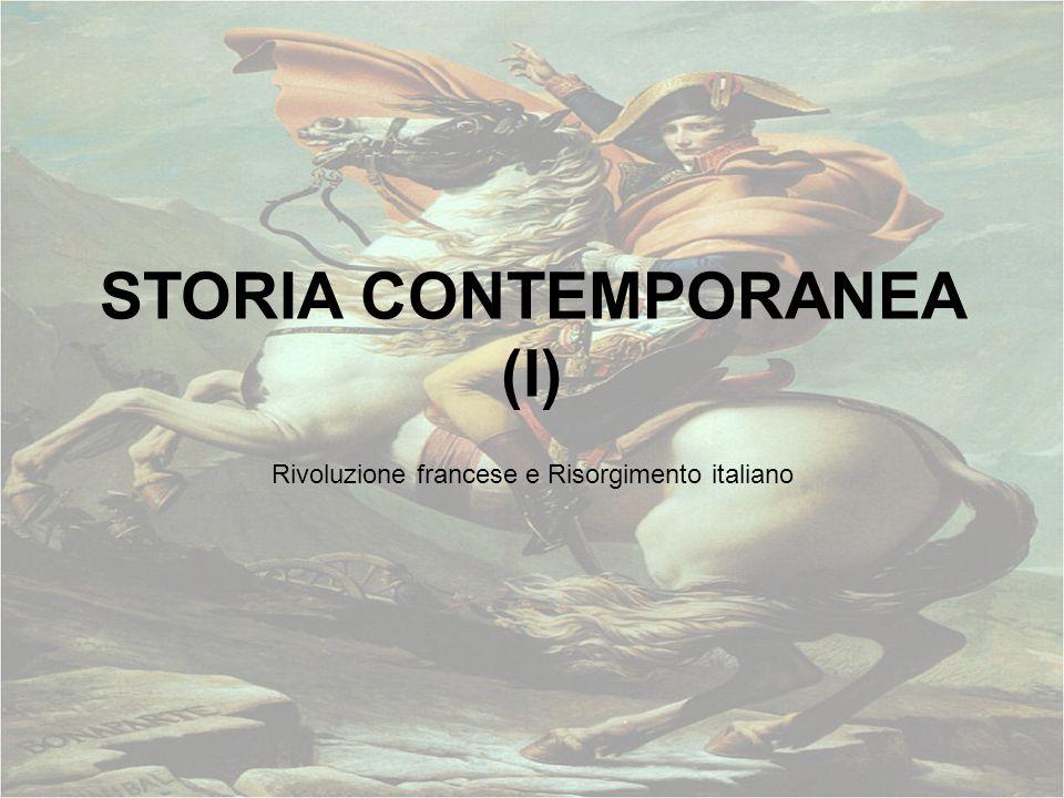 STORIA CONTEMPORANEA (I)