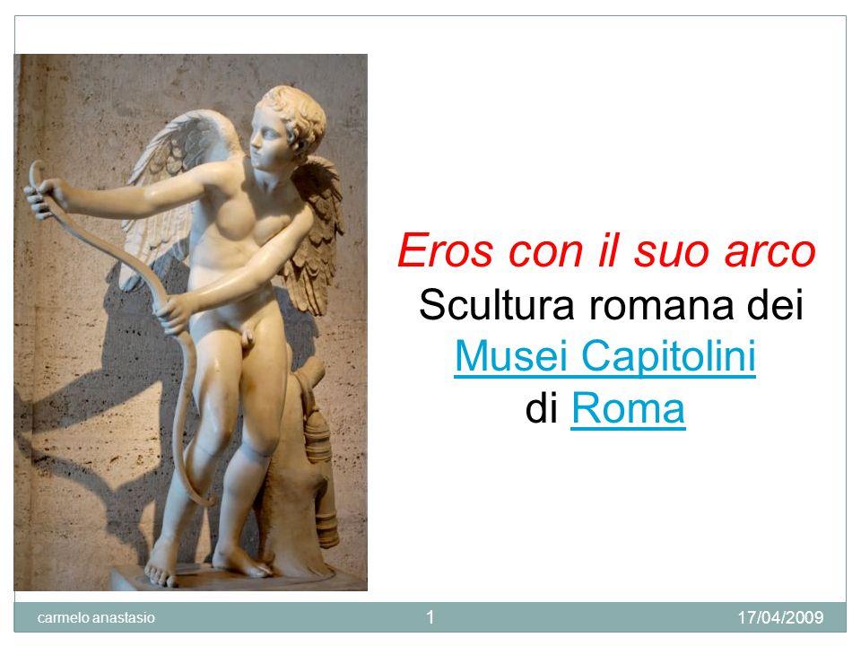Eros con il suo arco Scultura romana dei Musei Capitolini di Roma