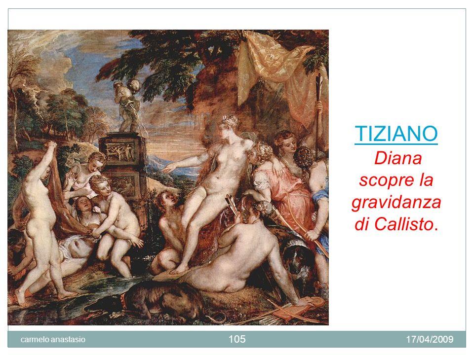 Diana scopre la gravidanza di Callisto.