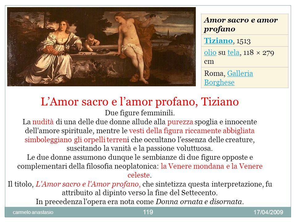 L'Amor sacro e l'amor profano, Tiziano