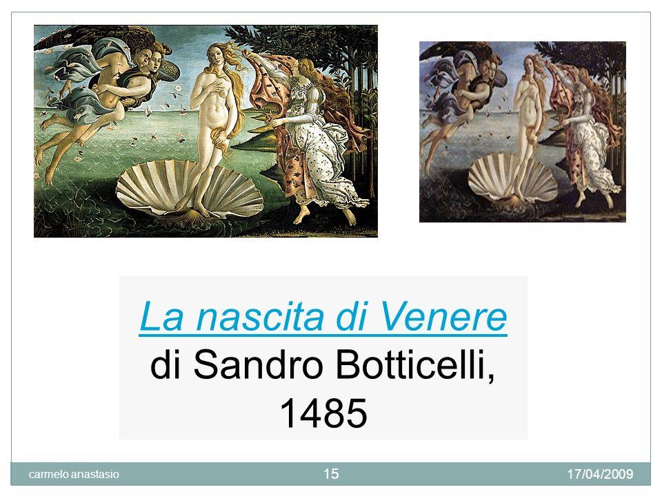 La nascita di Venere di Sandro Botticelli, 1485