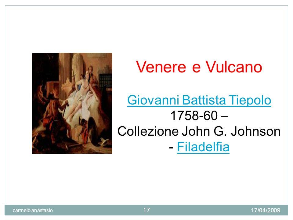 Venere e Vulcano Giovanni Battista Tiepolo 1758-60 –