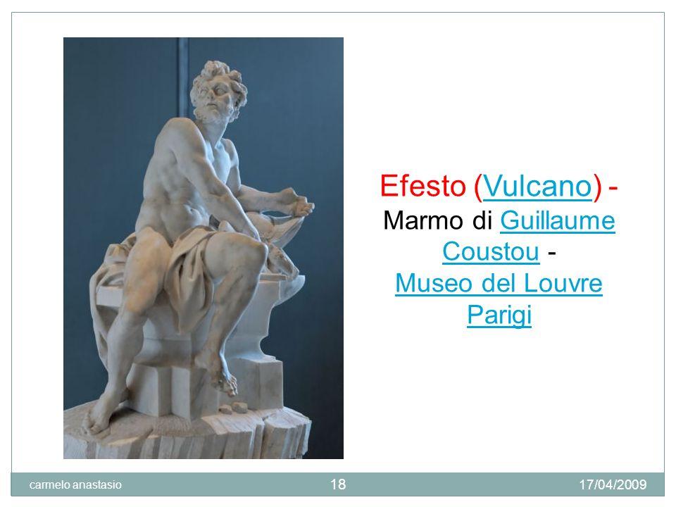 Efesto (Vulcano) - Marmo di Guillaume Coustou -