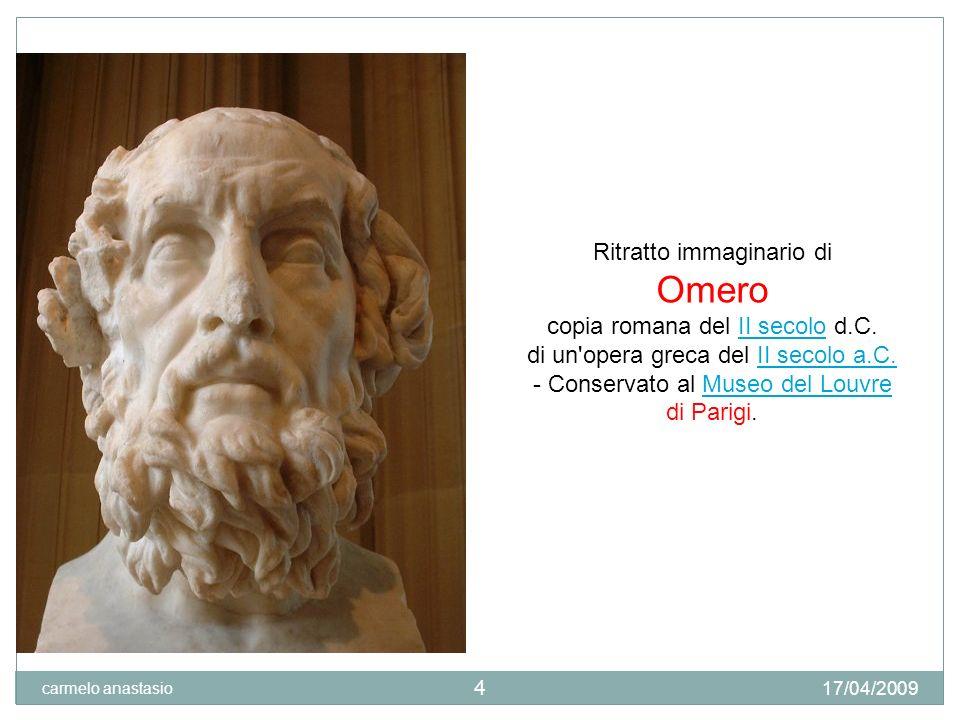 Omero Ritratto immaginario di copia romana del II secolo d.C.