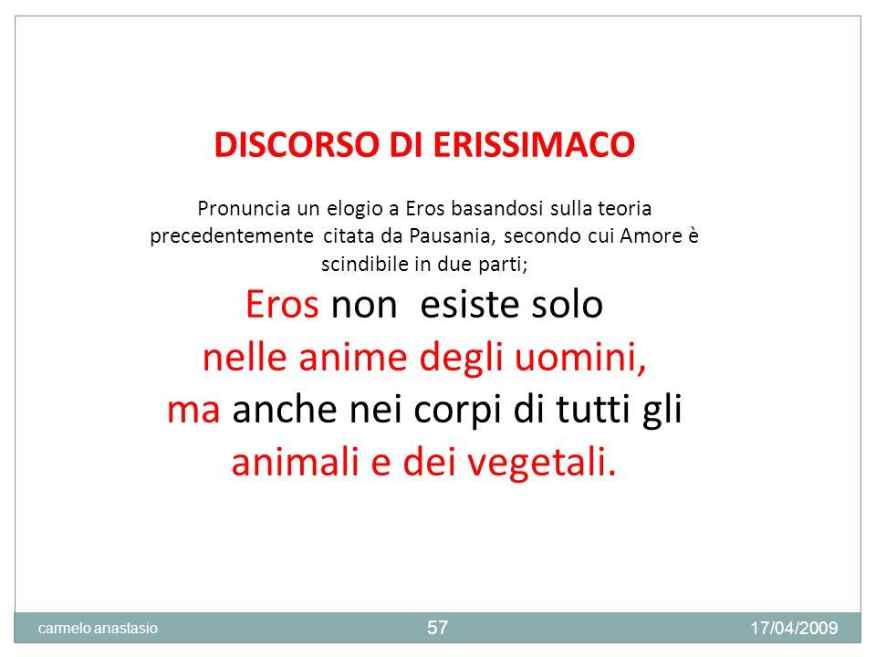 DISCORSO DI ERISSIMACO