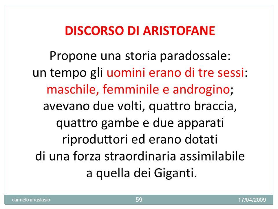 DISCORSO DI ARISTOFANE