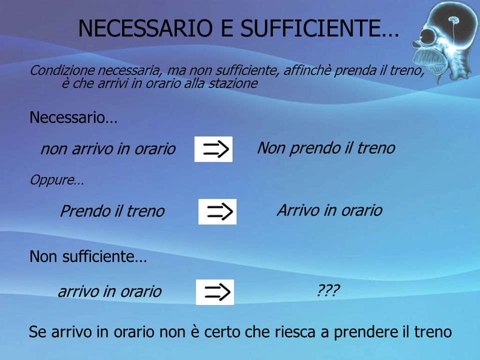 NECESSARIO E SUFFICIENTE…