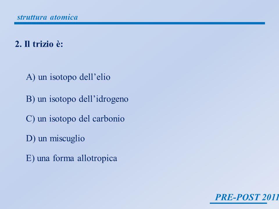 A) un isotopo dell'elio