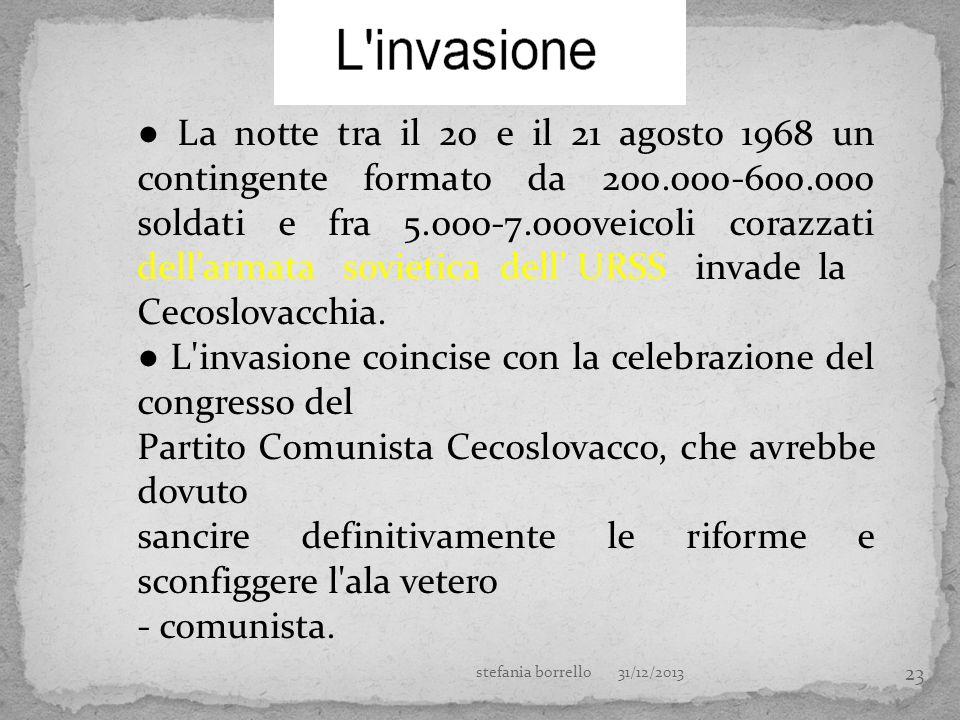 ● L invasione coincise con la celebrazione del congresso del
