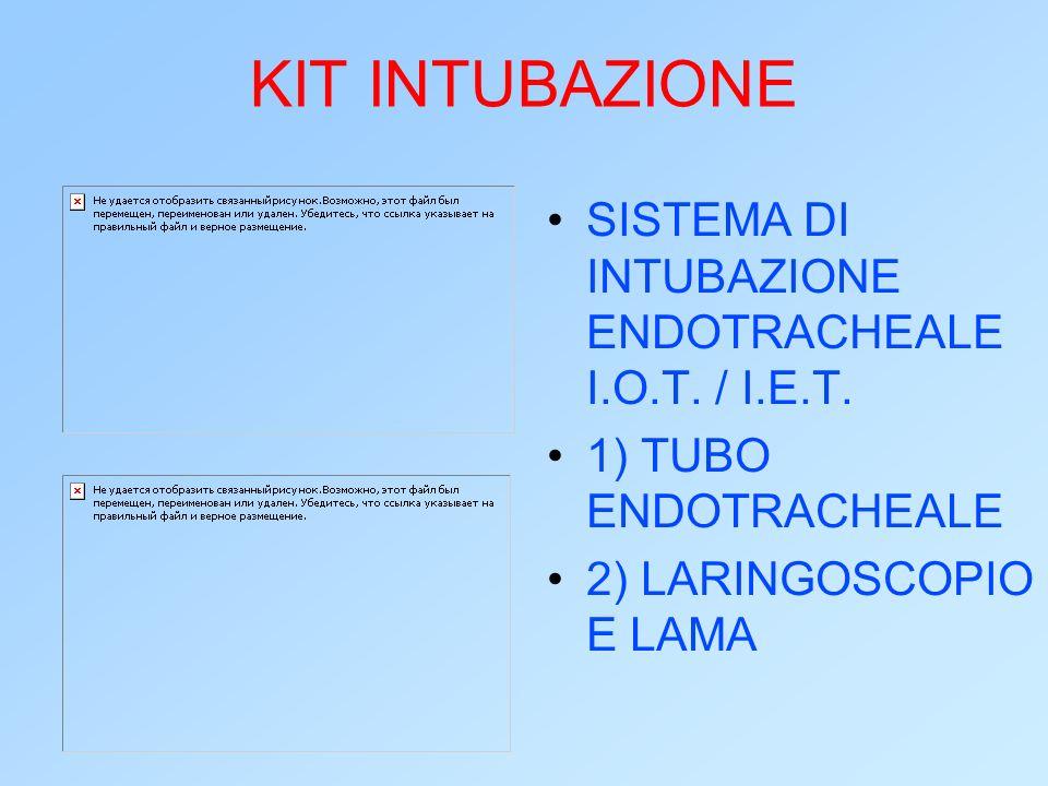 KIT INTUBAZIONE SISTEMA DI INTUBAZIONE ENDOTRACHEALE I.O.T. / I.E.T.