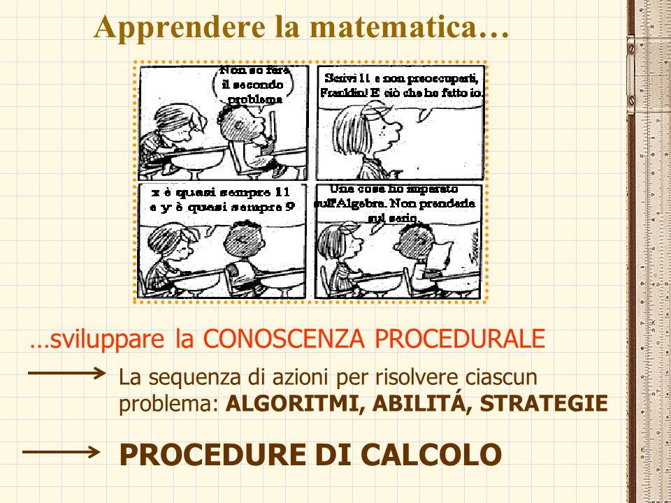 Apprendere la matematica…