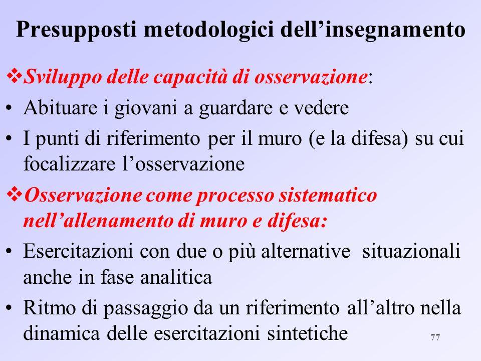 Presupposti metodologici dell'insegnamento