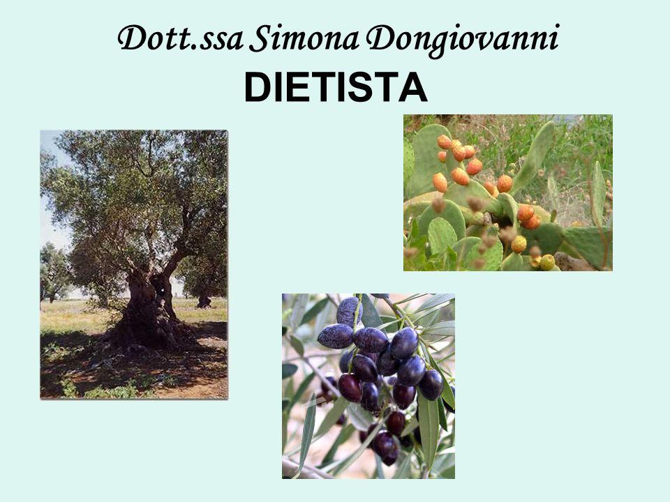 Dott.ssa Simona Dongiovanni DIETISTA