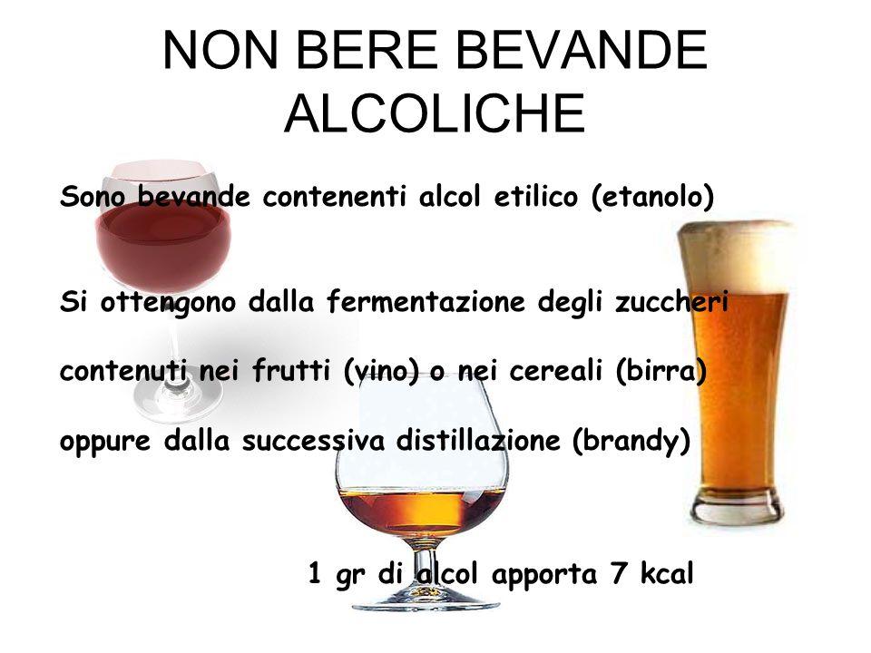 NON BERE BEVANDE ALCOLICHE