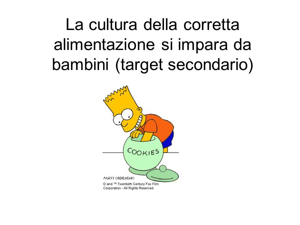 La cultura della corretta alimentazione si impara da bambini (target secondario)