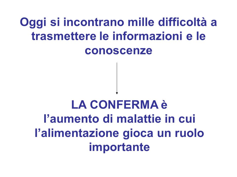 Oggi si incontrano mille difficoltà a trasmettere le informazioni e le conoscenze