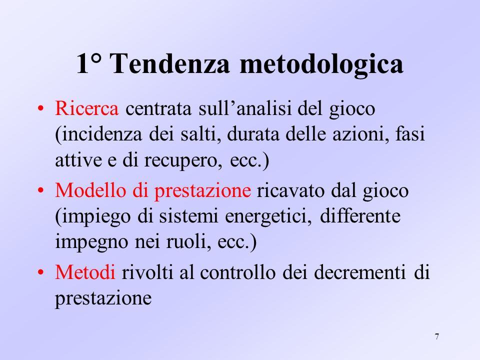 1° Tendenza metodologica