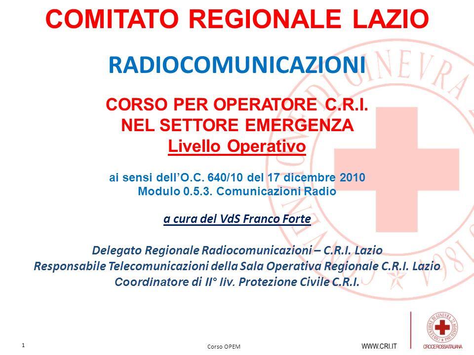 COMITATO REGIONALE LAZIO RADIOCOMUNICAZIONI
